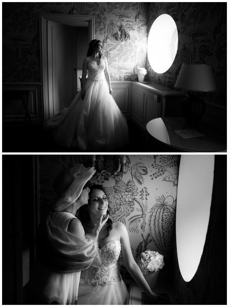 photos preparatifs de la mariee